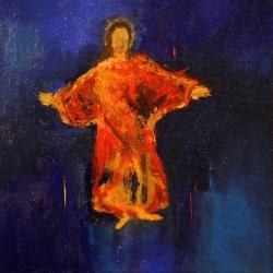 Jesus von Nazareth - 30 x 30 Mischtechnik auf Leinwand 2011