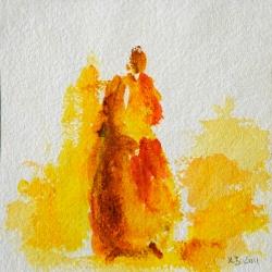 Frau mit Ahre - 15 x 15